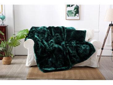 Star Home Textil Wohndecke Zobel, aus besonders weichem Webpelz B/L: 150 cm x 200 grün Kuscheldecken Decken