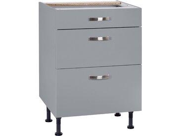 OPTIFIT Unterschrank Cara, Breite 60 cm, mit Vollauszügen und Soft-Close-Funktion B/H/T: cm x 87 58,4 grau Unterschränke Küchenschränke Küchenmöbel