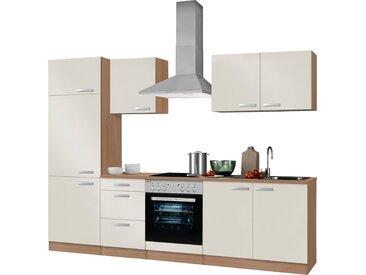 OPTIFIT Küchenzeile Odense, ohne E-Geräte, Breite 270 cm, mit 28 mm starker Arbeitsplatte, Gratis Besteckeinsatz Einheitsgröße beige Küchenzeilen Geräte -blöcke Küchenmöbel Arbeitsmöbel-Sets