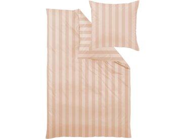 Curt Bauer Bettwäsche Como, mit Blockstreifen B/L: 240 cm x 220 (1 St.), 80 (2 Mako-Brokat-Damast beige Bettwäsche-Sets Bettwäsche, Bettlaken und Betttücher