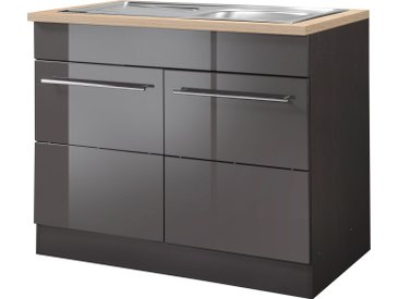 HELD MÖBEL Spülenschrank Wien, Breite 100 cm, inkl. Einbauspüle B/H/T: cm x 85 60 2 grau Spülenschränke Küchenschränke Küchenmöbel