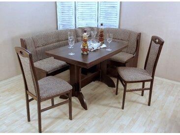Eckbankgruppe Madrid, (Set, 4 tlg.), Schenkel wechselbar Einheitsgröße braun Sitzbänke Nachhaltige Möbel