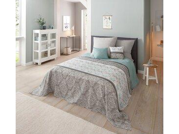 Home affaire Tagesdecke Cremona, auch als Tischdecke und Sofaüberwurf einsetzbar B/L: 140 cm x 210 grün Tagesdecken Decken
