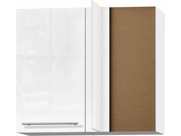 OPTIFIT Eckhängeschrank Bern, Breite 85x45 cm, mit Metallgriff 85 x 70,4 34,9 (B H T) 1-türig weiß Hängeschränke Küchenschränke Küchenmöbel Schränke
