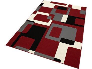 HANSE Home Teppich Retro, rechteckig, 9 mm Höhe, retro Design, Wohnzimmer B/L: 120 cm x 170 cm, 1 St. rot Esszimmerteppiche Teppiche nach Räumen