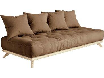 Karup Design Daybett Senza Daybed, mit Holzstruktur Baumwollmix, Liegefläche B/L: 90 cm x 200 Betthöhe: 85 cm, kein Härtegrad, Futonmatratze braun Einzelbetten Betten