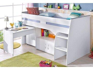 Parisot Hochbett Reverse Einheitsgröße weiß Kinder Hochbetten Kinderbetten Betten