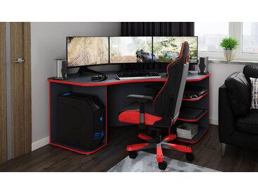 Homexperts Gamingtisch Tron, passend für drei 28 Monitore B/H/T: 180 cm x 76 85 grau Büromöbel Nachhaltige Möbel Gaming-Tisch
