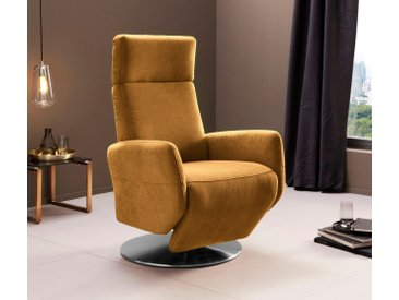 Places of Style TV-Sessel Conville, manuelle Relaxfunktion Luxus-Microfaser weich, B/H/T: 71 cm x 110 82 gelb Relaxsessel Sessel Wohnzimmer
