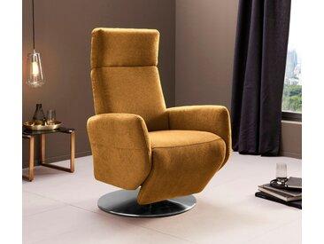 Places of Style TV-Sessel Kobra Luxus-Microfaser weich gelb Fernsehsessel und Sessel