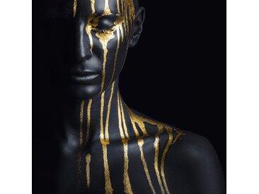 Leonique Acrylglasbild Gesichtshälfte 100x100 cm goldfarben Acrylglasbilder Bilder Bilderrahmen Wohnaccessoires