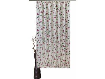 VHG Vorhang Miri, Leinenoptik, Rose, Streifen 245 cm, Kräuselband, 150 cm rot Wohnzimmergardinen Gardinen nach Räumen Vorhänge