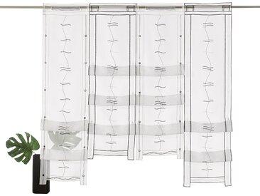 Weckbrodt Scheibengardine Selina 120 cm, Stangendurchzug, 97 cm schwarz Wohnzimmergardinen Gardinen nach Räumen Vorhänge
