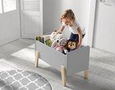 Vipack Spielzeugtruhe Kiddy, MDF-Oberfläche B/H/T: 80 cm x 48 39 grau Kinder Spielzeugkisten Kindermöbel