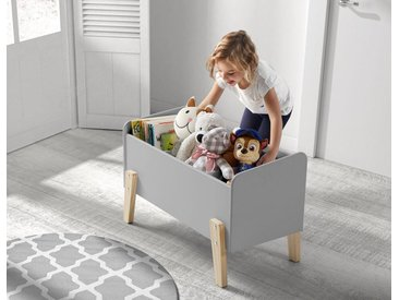 Vipack Spielzeugtruhe Kiddy, MDF-Oberfläche B/H/T: 80 cm x 48 39 grau Truhen Kleinmöbel