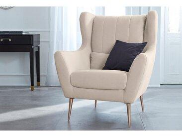 Guido Maria Kretschmer Home&Living Loungesessel Teft Luxus-Microfaser beige Sessel