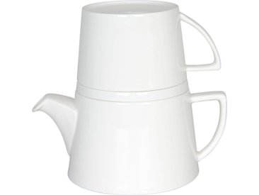 Könitz Teekanne Tea for me, 0,65 l, (Set, 1), 650 ml für 2 Tassen Inhalt l weiß Kannen Geschirr, Porzellan Tischaccessoires Haushaltswaren Kanne