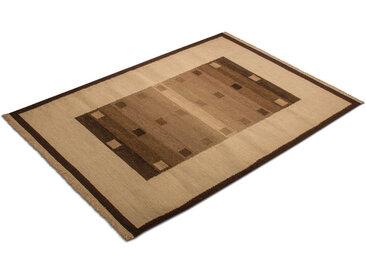 morgenland Wollteppich Kelim Teppich Modaro, rechteckig, 6 mm Höhe, Kurzflor B/L: 120 cm x 180 cm, 1 St. braun Schurwollteppiche Naturteppiche Teppiche