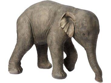 Deko-Elefant ca. 54/70/35 cm grau Tierfiguren Figuren Skulpturen Wohnaccessoires Dekoratives