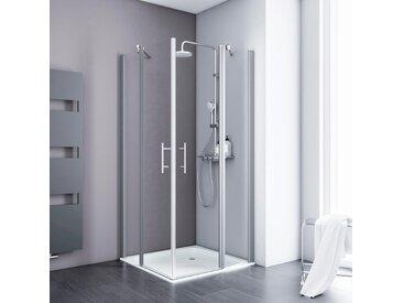 Schulte Eckdusche Alexa Style 2.0, Höhe inklusive Stabilisationsbügel 1954 mm Einheitsgröße silberfarben Duschkabinen Duschen Bad Sanitär