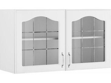wiho Küchen Glashängeschrank Linz 100 x 56,5 35 (B H T) cm weiß Hängeschränke Küchenschränke Küchenmöbel Schränke