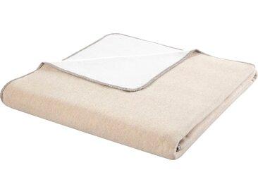 BIEDERLACK Wohndecke Recover, aus Recycling-Garnen hergestellt B/L: 150 cm x 200 beige Baumwolldecken Decken