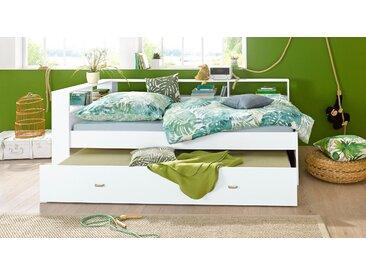 Funktionsbett 90x200 cm weiß Einzelbetten Betten Daybetten