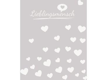 Wohndecke Lieblingsmensch, Magma Heimtex 150x200 cm, Baumwolle-Kunstfaser grau Baumwolldecken Decken Wohndecken