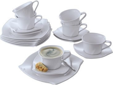 Retsch Arzberg Kaffeeservice Emotion, (Set, 18 tlg.), Spülmaschinenfest weiß Geschirr-Sets Geschirr, Porzellan Tischaccessoires Haushaltswaren