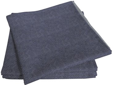 Stoffserviette, Uni Light Collection, Adam 1, 30x30 cm, Bio-Baumwolle blau Stoffservietten Tischwäsche Serviette