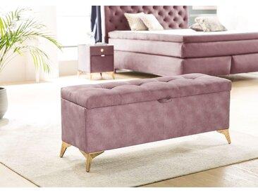 Jockenhöfer Gruppe Bettbank, mit Stauraum B/H/T: 127 cm x 53 44 cm, Microfaser rosa Polsterbänke Sitzbänke Stühle Bettbank