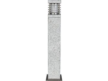 HEITRONIC Sockelleuchte Lar Mer, E27, 1 St., Seewaserbeständiges Gehäuse aus echtem Granit flg., Höhe: 70 cm, St. grau Außenleuchten SOFORT LIEFERBARE Lampen Leuchten
