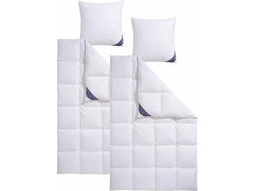 Excellent Daunenbettdecke + Federkissen Zürich, (Spar-Set), Gutes Wärmeverhalten bei hoher Leichtigkeit weiß, 2x 135x200 cm 80x80 cm, Premium weiß Daunendecke Bettdecken Bettdecken, Kopfkissen Unterbetten Bettwaren-Sets