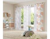 my home Schiebegardine Belem, Fertiggardine, inkl. Beschwerungsstange, transparent 225 cm, Schlaufen, 57 cm beige Wohnzimmergardinen Gardinen nach Räumen Vorhänge