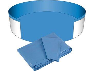 Clear Pool Poolinnenhülle, für Rundbecken, 0,4 mm Stärke, in versch. Größen Ø 450 cm, blau Poolzubehör -reinigung Pools Planschbecken Garten Balkon Poolinnenhülle