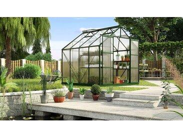 KONIFERA Gewächshaus Titania 6700 B/T: 254 cm x grün Gewächshäuser Garten Balkon