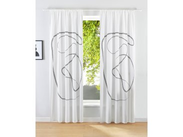 LeGer Home by Lena Gercke Gardine Gloria 175 cm, Stangendurchzug, 110 cm weiß Blickdichte Vorhänge Gardinen
