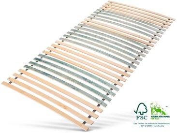 Rollrost, 7 Zonen Jekatex, Kopfteil nicht verstellbar verstellbar, 1x 140x200 cm, bis 200 kg bunt Federholzrahmen Lattenroste Lattenrost