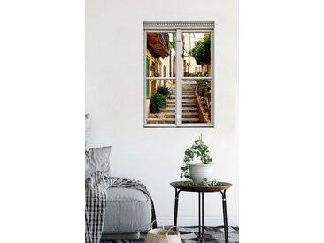 queence Wandsticker Treppe am Haus