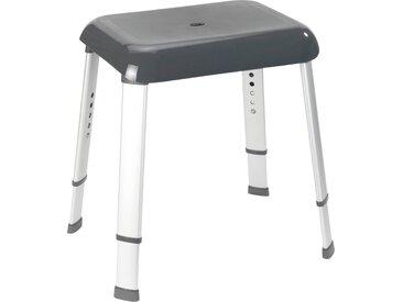 WENKO Duschhocker Secura Premium, belastbar bis 130 kg, Badhocker Einheitsgröße schwarz Barrierefreies Bad Badmöbel