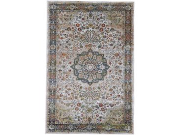carpetfine Teppich Vintage Lindo, rechteckig, 8 mm Höhe, Orient Look B/L: 200 cm x 290 cm, 1 St. braun Esszimmerteppiche Teppiche nach Räumen