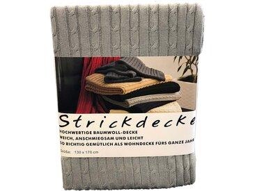 grace grand spa Plaid, mit klassischem Zopfmuster B/L: 130 cm x 170 silberfarben Baumwolldecken Decken Plaid