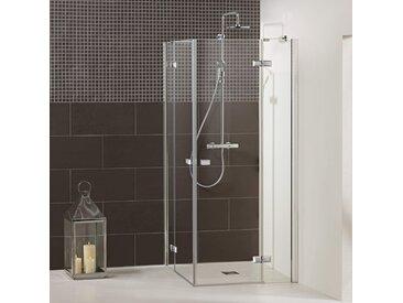 Dusbad Eckdusche Vital 1, Drehtür mit Festteil B/H: 105 cm x 200 cm, beidseitig montierbar grau Duschkabinen Duschen Bad Sanitär Bodenablauf