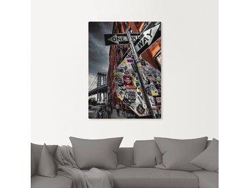 Artland Wandbild New York Street Fotografie 90x120 cm, Leinwandbild grau Bilder Bilderrahmen Wohnaccessoires