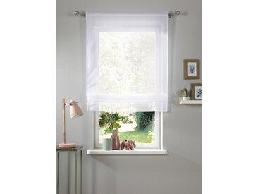 my home Bändchenrollo Xana, mit Stangendurchzug, 120 cm, 80 cm weiß Wohnzimmergardinen Gardinen nach Räumen Vorhänge