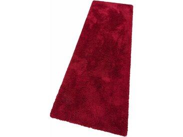 my home Hochflor-Läufer Desner, rechteckig, 38 mm Höhe, besonders weich durch Microfaser B/L: 80 cm x 500 cm, 1 St. rot Teppichläufer Läufer Bettumrandungen Teppiche