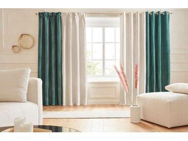 Vorhang, Manon, Guido Maria Kretschmer Home&Living, Ösen 1 Stück 6, H/B: 300/132 cm, blickdicht, beige Blickdichte Vorhänge Gardinen Gardine