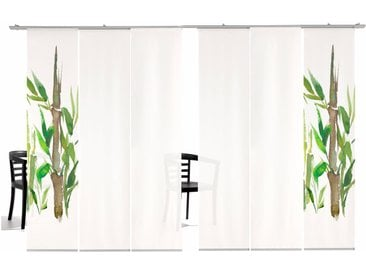 emotion textiles Schiebegardine Bambus HA, HxB: 260x60, inkl. Befestigungszubehör 260 cm, Klettband, 60 cm grün Wohnzimmergardinen Gardinen nach Räumen Vorhänge
