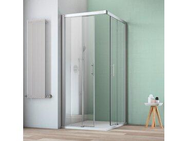 maw Eckdusche A-ES60, mit Schiebetür Einheitsgröße silberfarben Duschkabinen Duschen Bad Sanitär