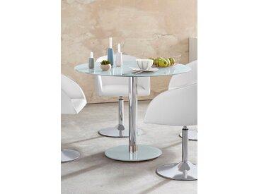 MCA furniture Glastisch Falko, mit Glasplatte B/H/T: 100 cm x 77 weiß Säulentische Esstische Tische